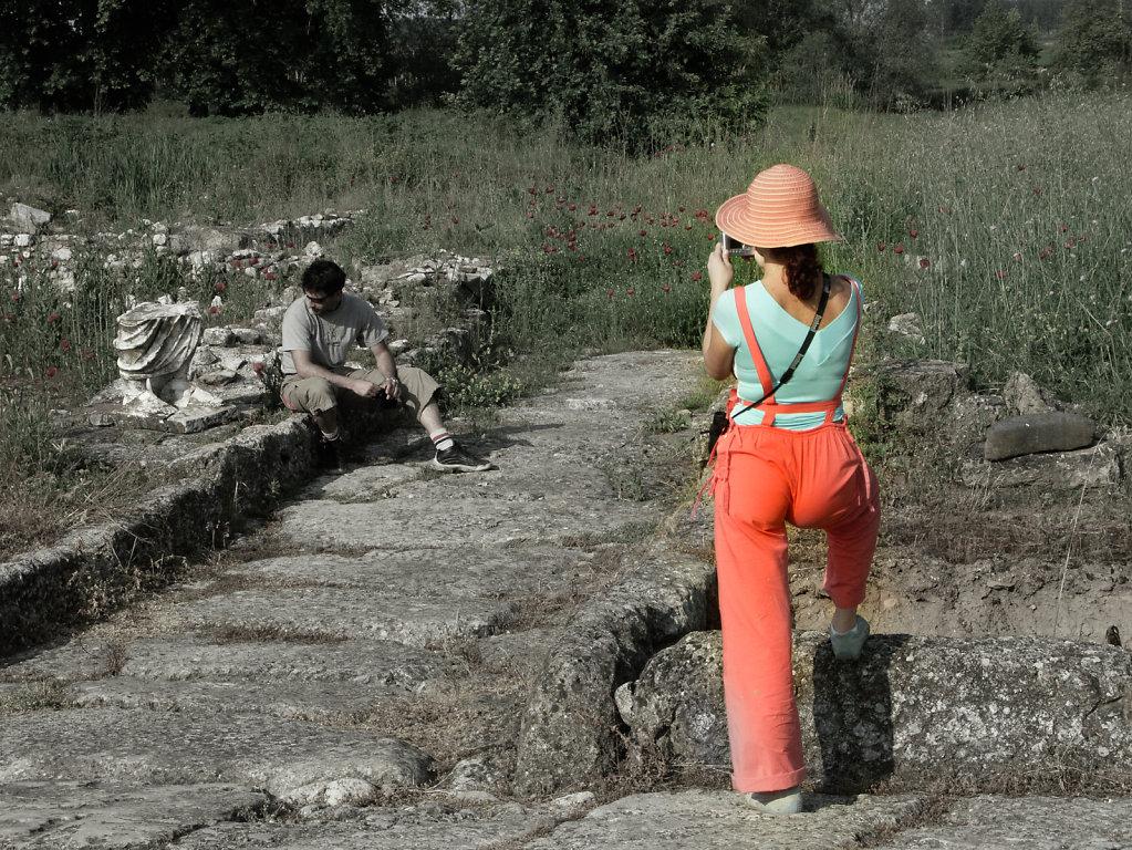 Souvenirs, ruines de Dion, Macédoine, mai 2004
