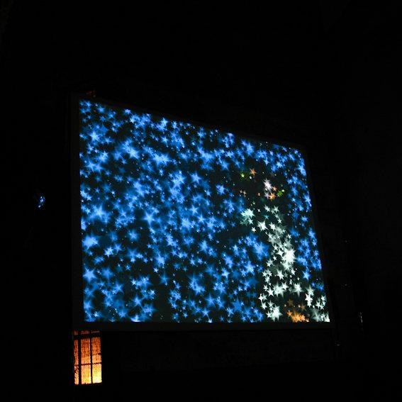 Orange Bleu / Blue stars / nuit de l année / arles 2008